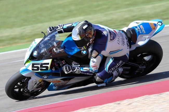 Faubel logra colocar la BMW del Team Stratos en el TOP 10 de los entrenamientos cronometrados en MotorLand
