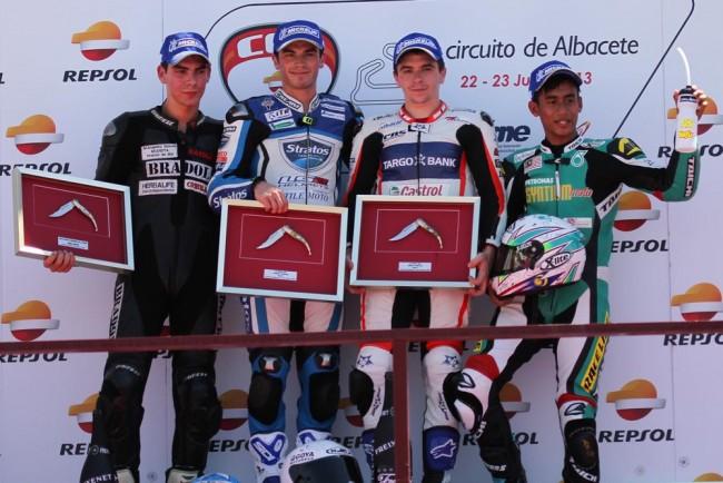 Ramos mantiene el liderato de Moto2 gracias a su cuarto podio consecutivo con el Team Stratos