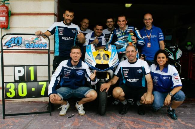 Ramos y Team Stratos consiguen su segunda pole con Ariane en Albacete a ritmo de récord