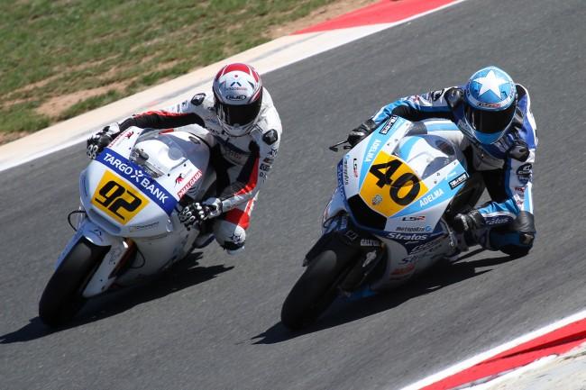 Román Ramos sube al podio en las dos carreras y mantiene el liderazgo en Moto2