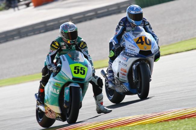 Román Ramos y Team Stratos más cerca de conseguir el título de Moto2 en Jerez tras sumar un nuevo podio