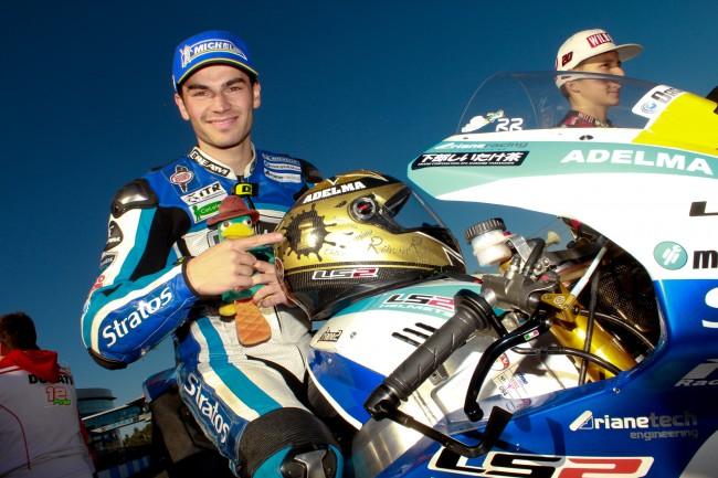 Román Ramos, Team Stratos y Ariane campeones del CEV de Moto2