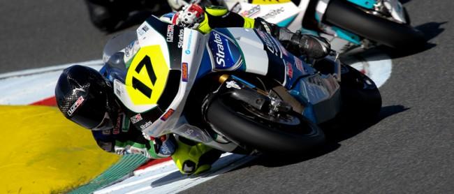 Russell Gómez es baja en Moto2 en el FIM CEV de Valencia con el Team Stratos