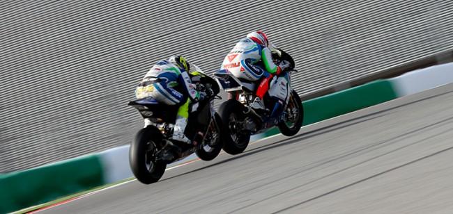 Los pilotos del Team Stratos en Moto2 buscarán el podio en Portimao