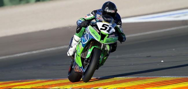 Santi Barragán y el Team Stratos consiguen la pole en Valencia de la mano de Kawasaki y Michelin