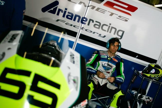 Alejandro Medina renueva con el Team Stratos y Ariane para el FIM CEV Moto2 European Championship 2015