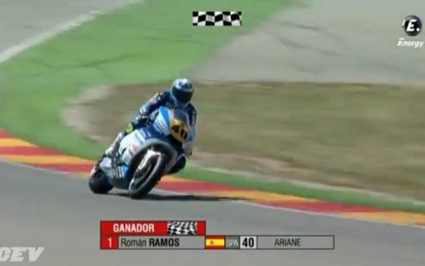 Victoria de Team Stratos y Roman Ramos en Motorland Moto2