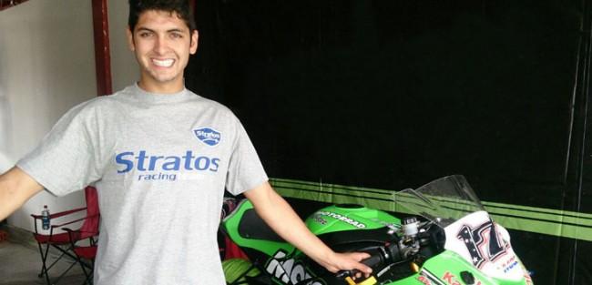 Maximilian Scheib, piloto invitado del Team Stratos en el FIM CEV Repsol Moto2 en Portugal