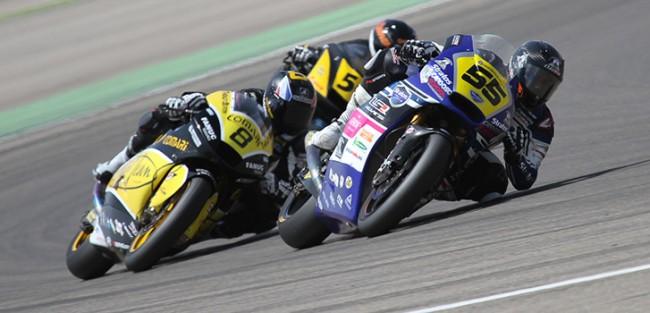 Los pilotos Stratos en Moto2 siguen en los puntos en la carrera doble de MotorLand
