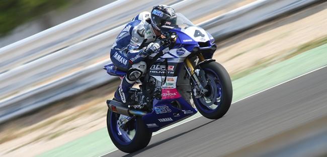 Pietri y el Team Stratos llevan la Yamaha R1M a la primera fila de Albacete