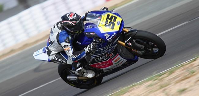 Alejandro Medina saldrá en segunda línea con la Ariane 2 del Team Stratos en Moto2