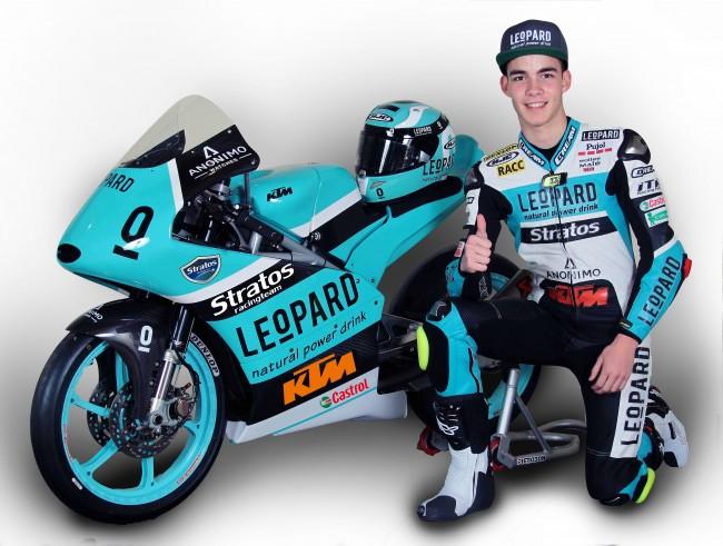 Super Gerard Riu joins Leopard Junior Stratos Team for 2016 FIMCEV Moto3  BQ13