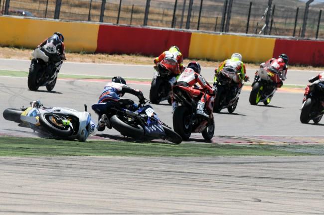 La mala suerte acaba con la carrera de Diego Carbó en la primera curva