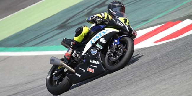 Luc Mamet, primero en Stock600 con el Team Stratos y su Yamaha R6