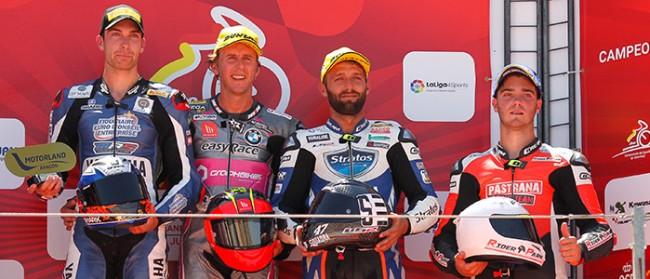 El Yamaha Stratos y Ángel Rodríguez suman un nuevo podio en MotorLand Aragón