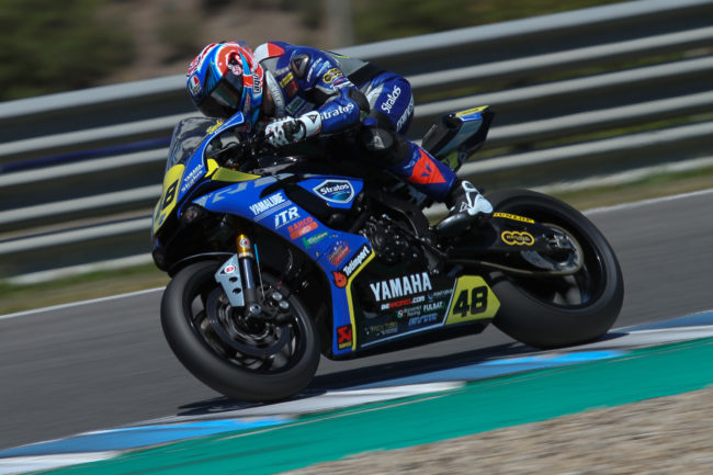 Sandi y el Yamaha Stratos encabezan la tercera fila de parrilla en el Circuito de Jerez