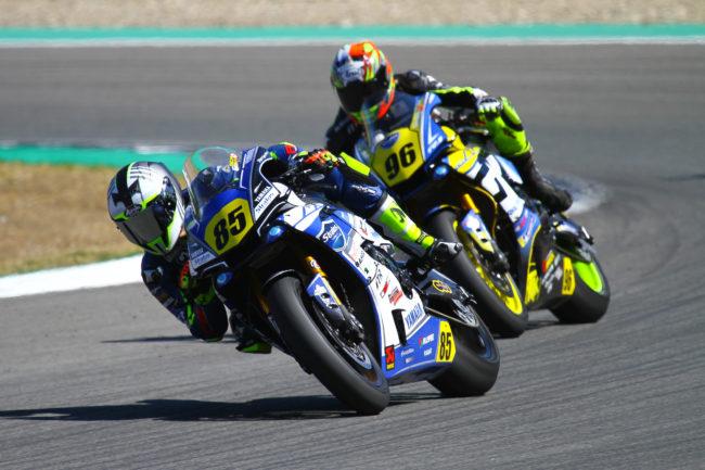 """Pedro Nuno y Kike Ferrer en el """"top10"""" del ESBK en Jerez"""