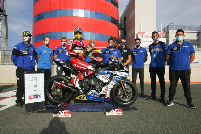 María Herrera y el Yamaha Stratos Campeones de España del ESBK Femenino