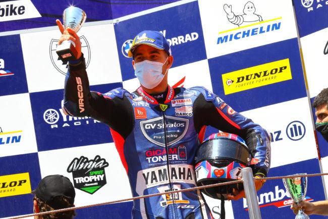 Broche de oro para Pedro Nuno y el Yamaha GV Stratos en Barcelona con un nuevo podio